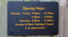 Opening hours for The Cattery